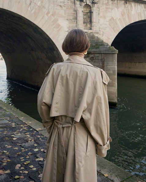 trench coat french outfit