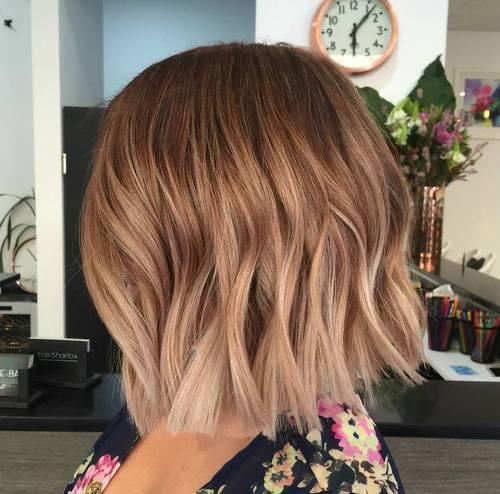 Medium brown ombré  short hair by Hairbykas