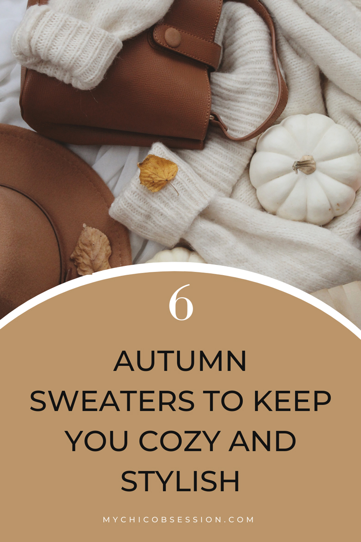 White autumn sweater and white pumpkin flatlay